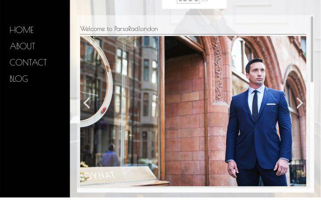ParsaRad.london website concept and design (live)