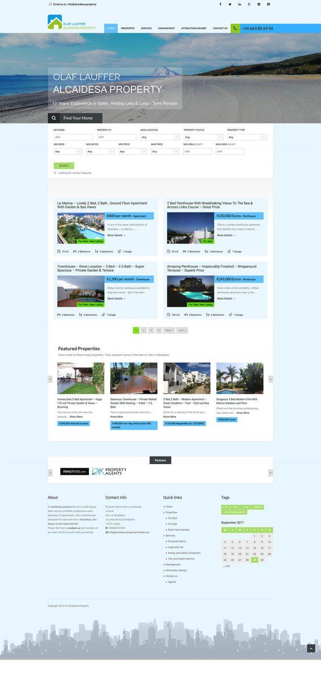 Alcaidesa.property website concept and design (live)