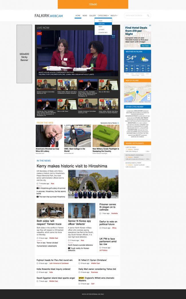 .Webcam affiliate website network concept and design