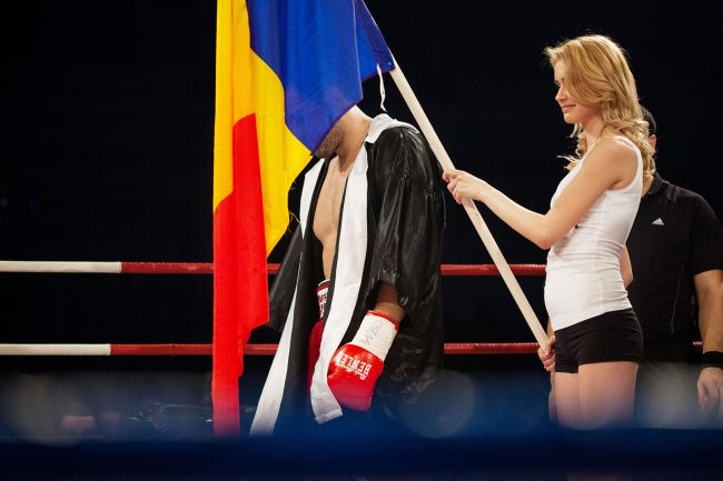 Boxers are preparing to fight at the BOXEN fight gala that was held in Galați, Romania on February 22nd, 2013