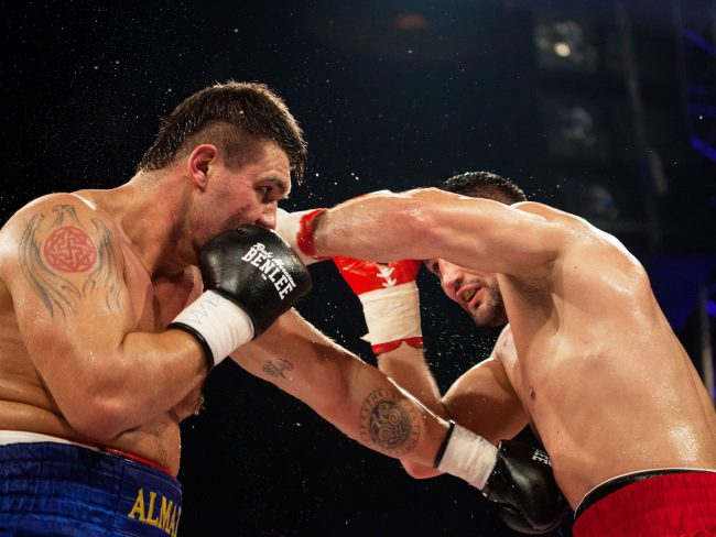 Boxers are fighting at the BOXEN fight gala that was held in Galați, Romania on February 22nd, 2013