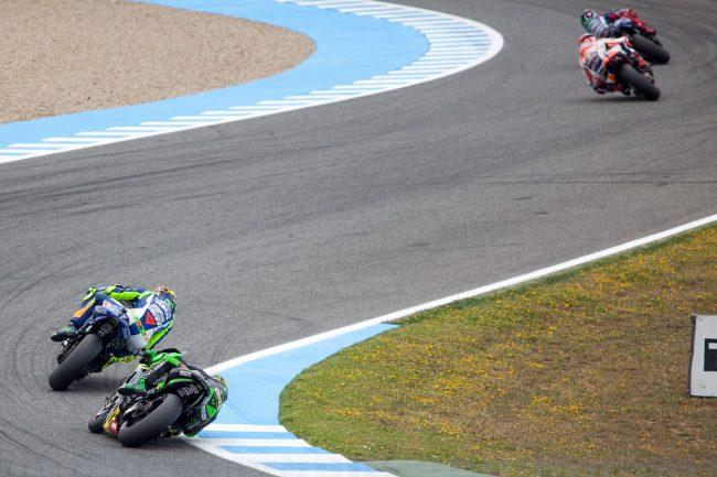 MotoGP riders are competing in Jerez de la Frontera, Spain Grand Prix on May 3rd, 2015
