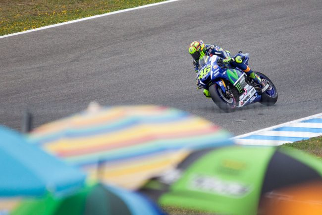 Valentino Rossi is competing in Jerez de la Frontera, Spain Grand Prix on May 3rd, 2015