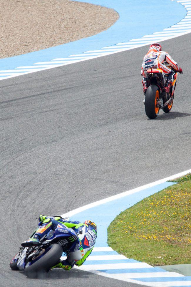Moto GP riders are competing in Jerez de la Frontera, Spain grand Prix on May 3rd, 2015