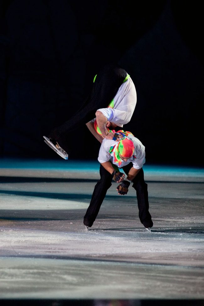 Russian artists are skating during the Moscow Stars on Ice show in Galați, Romania, March 2nd , 2009.