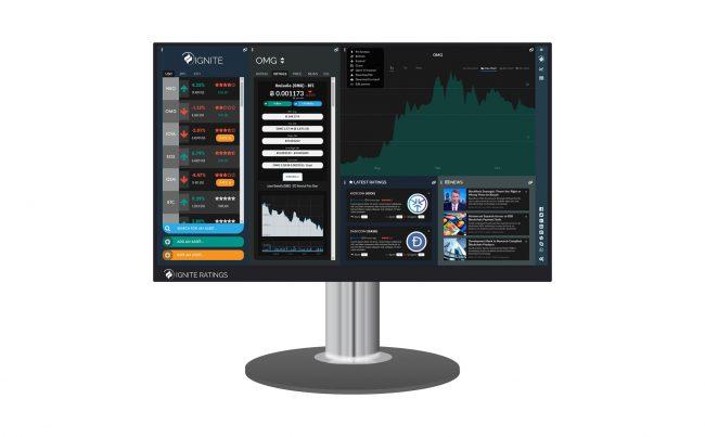 UX web application design for crypto currency index ingniteratings.com - desktop version.