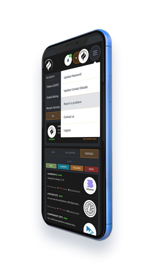 Multi-platform UI design for Ignite Ratings platform.